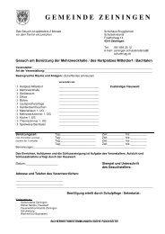 BENUE Mehrzweckhalle Mitteldorf Bachtalen - Schule Zeiningen