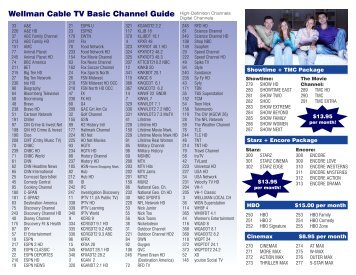 Full choice communications channel guide
