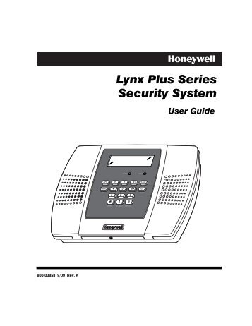 lynx plus series security system guardian protection services rh yumpu com honeywell lynx plus user guide honeywell lynx plus security system user guide
