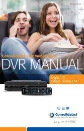SureWest Whole Home DVR Manual