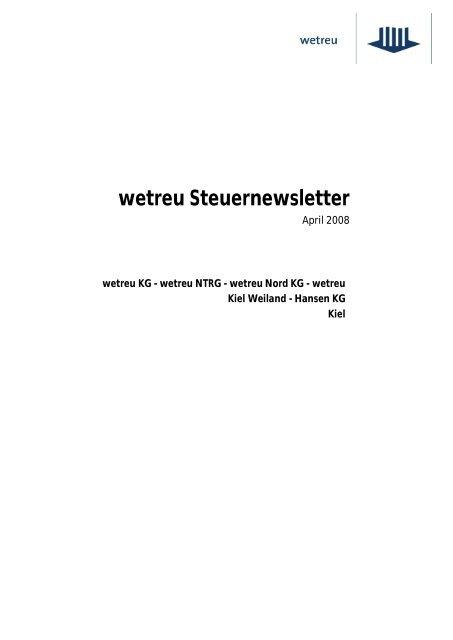 Newsletter April 2008 - wetreu