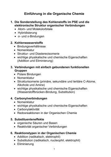 Fantastisch Organischen Chemie Arbeitsblatt Bilder - Arbeitsblätter ...
