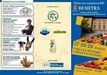 Programma Demetra 2011 - Vini e Sapori