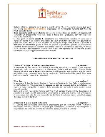 Programma San Martino in Cantina 2008 in Friuli ... - Vini e Sapori