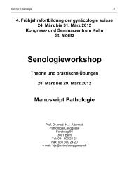 Senologieworkshop - Frühjahrsfortbildung gynécologie suisse