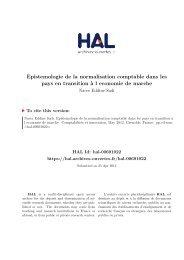 Epistémologie de la normalisation comptable dans les pays en ... - Hal
