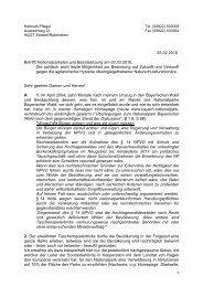 Mailbrief vom 25.02.2010 an Bürgermeister und Gemeinden im ...