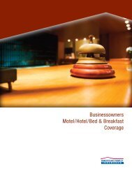 Businessowners Motel/Hotel/Bed & Breakfast Coverage - American ...