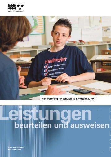 Leistungsbeurteilung und Promotion an der ... - Schule Zeiningen