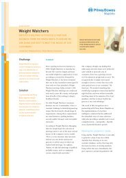 Weight Watchers - MapInfo
