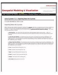 Leica Cyclone 7.1.1 : Importing Data into Cyclone   Geospatial ...