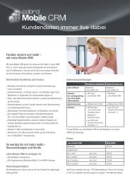 cobra Mobile CRM Flyer - Dieter Schirmer, EDV-Beratung