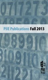 Peterson Institute for International Economics, Fall ... - Renouf Books