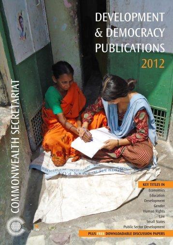 Commonwealth Secretariat 2012 - Renouf Publishing Co. Ltd.