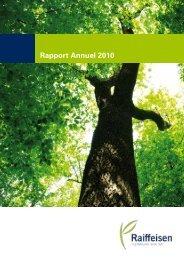 Rapport Annuel 2010 - Raiffeisen