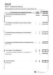 Rückmeldebogen für Lehrerinnen und Lehrer 3. Klasse