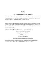 2013 Specialty Contractor Registration - City of Youngstown