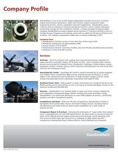 Company Profile PDF - Standard Aero