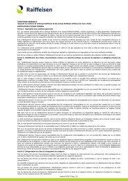Conditions Générales valables à partir du 1/04/2013 - Raiffeisen