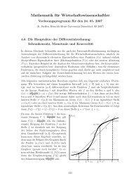 Hauptsätze der Differentialrechnung. - Heinrich-Heine-Universität ...