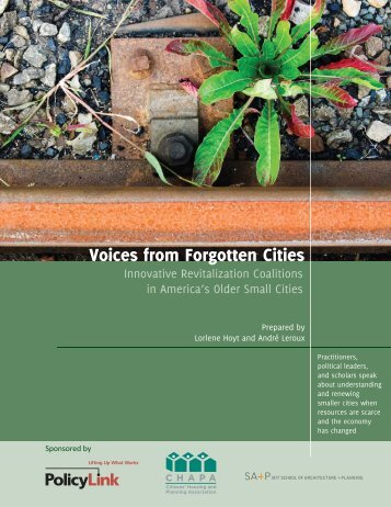 Voices from Forgotten Cities: Innovative - Lorlene Hoyt