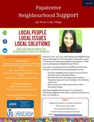 Papatoetoe Neighbourhood Support - July Newsletter