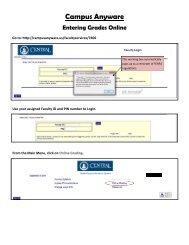 Campus Anyware Entering Grades Online