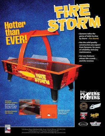• Dynamo takes the game of table hockey by Storm – Fire Storm ...