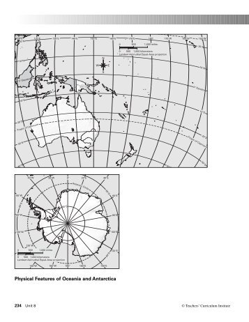 Physical Features of Oceania and Antarctica - Geography
