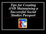 Tips for Creating and Maintaining a Successful Social Studies ...