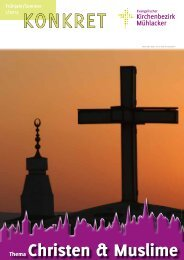Kirchenbezirk Mühlacker Konkret Christentum und Islam
