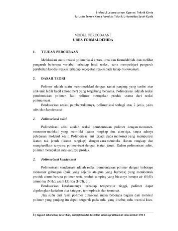 Modul Lab OTK II - Teknik Kimia - Universitas Syiah Kuala