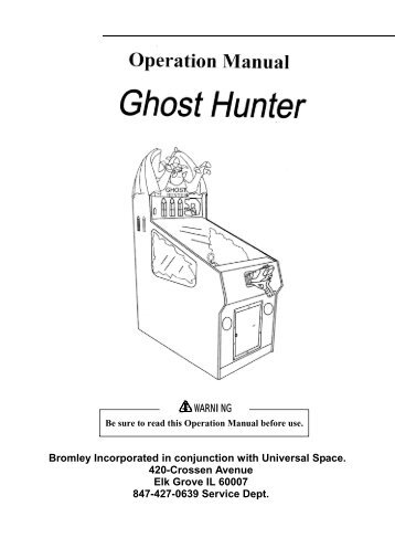 Ghost Hunter Manual.1610 - The Shaffer Distributing Company
