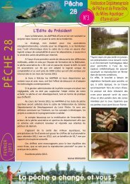 newsletter n°3 - Fédération nationale de la pêche en France
