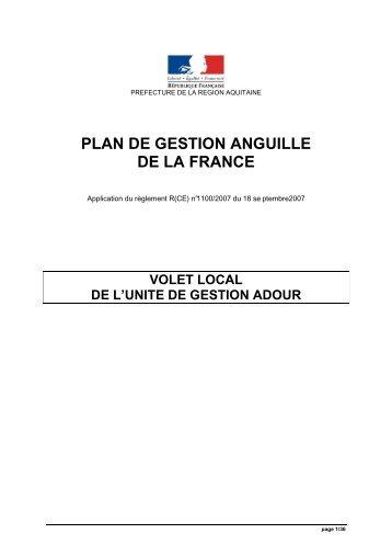 Volet Bassin Adour - Fédération nationale de la pêche en France