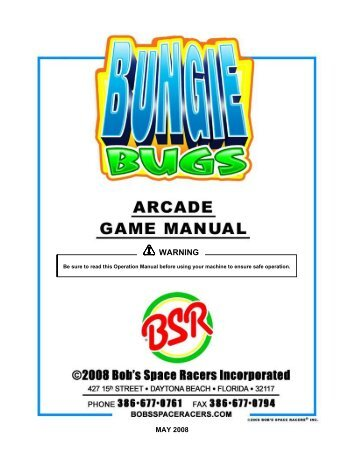 Bungie Bugs Owners Manual.1518 - The Shaffer Distributing ...