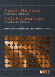 Engineering Skills Capacity in the Road and Rail Industries - ANET ...