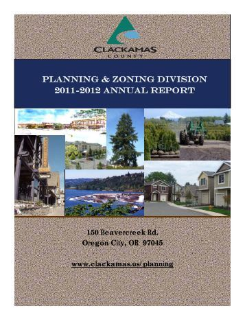 Zoning/Planning 2011-12 Annual Report - Villages at Mt. Hood
