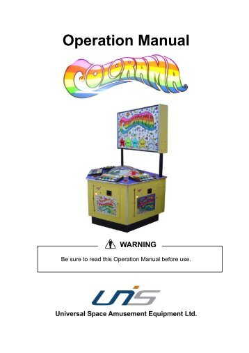 Colorama 4 Player Manual.1607 - The Shaffer Distributing Company