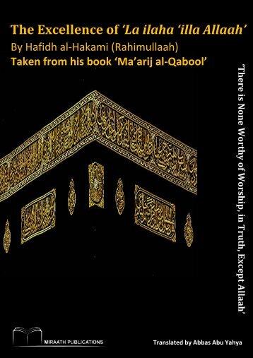 Miraath-Publications-The-Excellence-of-'La-ilaha-'illa-Allaah'-2014