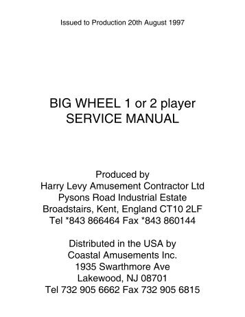 Big Wheel Manual.1216.pdf - The Shaffer Distributing Company