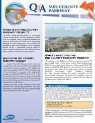 what is the mid county parkway project?