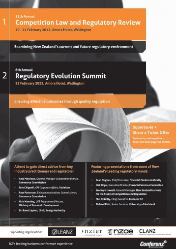 Competition Law and Regulatory Review Regulatory ... - Conferenz