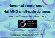 Numerical simulations of Hall MHD small-scale dynamos - Astronomia