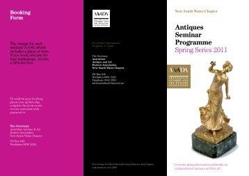 booking form - Australian Antique and Art Dealers Association