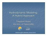 Hydrodynamic Modeling: A Hybrid Approach - 2010 The Berkeley ...