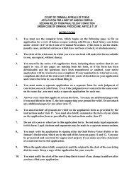Writ of Habeas Corpus - Dallas County