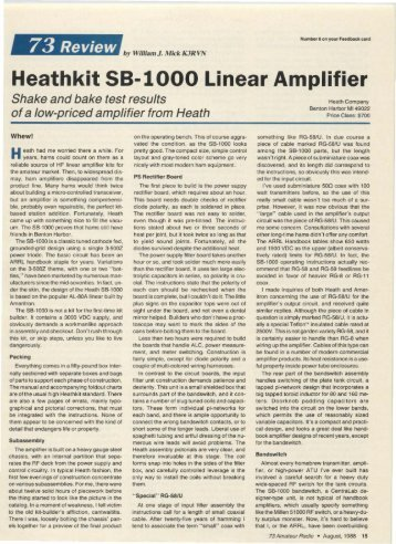 Heathkit 58-1000 Linear Amplifier - Nostalgic Kits Central