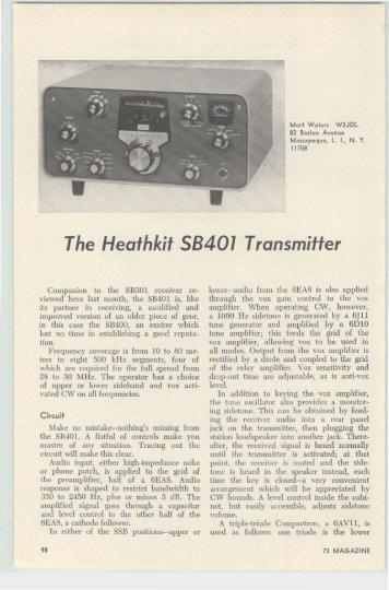 The Heathkit SB-401 Transmitter - Nostalgic Kits Central