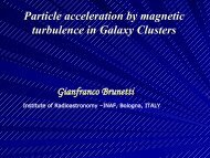 Particle acceleration by magnetic turbulence in Galaxy Clusters ...